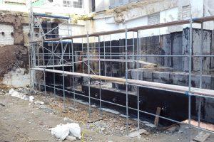 Bau eines Arbeitsschutzzeltes