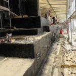 Abdichtung der Bodenplattenstirnseite und Telleranker zur Fixierung des Schutzbetons.