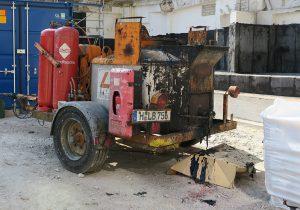Rührwerkskocher zum aufschmelzem der mineralisch gefüllten Bitumenmasse