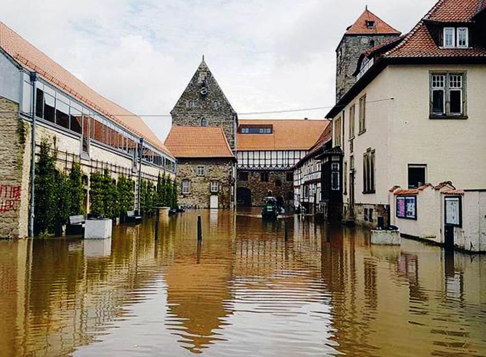 Domäne Marienburg Hochwasser Sanierung